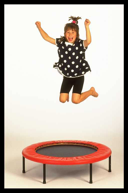 MIni trampoline workouts with Mihcele Wilburn for all ages from childrens rebounding workouts to rebounding for the elderly.
