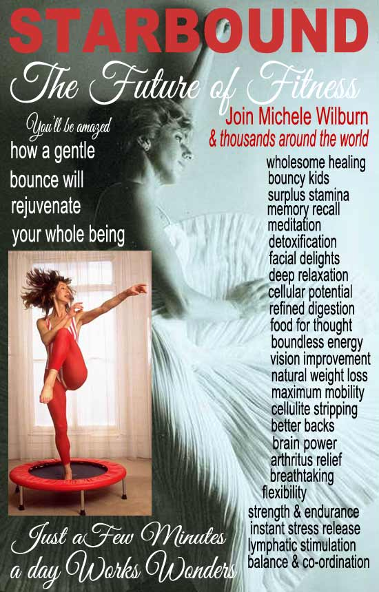 Make the nost of mini trampoline workouts using rebounding exercise lifestyle plans for healthg and fitness with Starbound books of mini trampoline workouts and Starbound mini trampoline DVDs