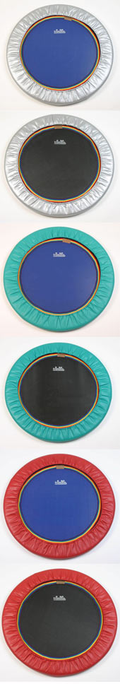Quality trimilin rebounders for rebounding exercise workouts with Starbound videos and DVDs