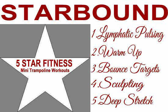 Getting started with Starbound rebounding exercise workout videos for beginners workouts using mini trampolines
