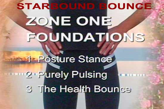 Minitrampoline rebounding exercise workouts for beginners settling posture and pulsing on rebounders