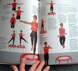 Rebounding workouts and  rebounding techniques in my Starbound book lifestyle plans