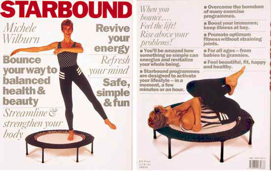 starbound book of rebounding exercise workouts and lifestyle and wellness plans for health fitness and beauty