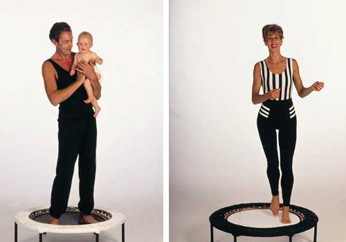 Mini trampoline workouts provide ideal exercise at home for the whole family