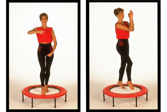 Use rebounding exercise workouts from my Starbound book to learn safe and effective rebounding exercise workouts