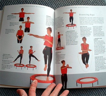 Over 400 photos with clear instructions guide you through mini trampoline workout rebounding exercises in the Starbound book