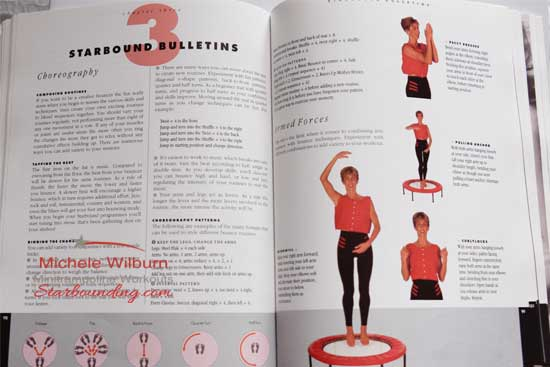 Starbounding integrates an entire system of mini trampoline skills and workout phases  using the mini trampoline