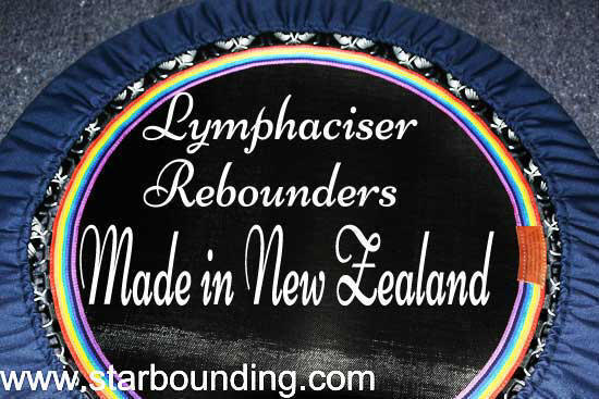 Lymphaciser rebounders are ideal for the health bounce and lymphatic circulation, as well as intense cardio workouts on the mini trampoline.