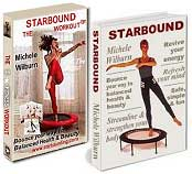 Starbound mini trampoline rebounder exercise workouts in the Starbound Workout DVD complement workouts in teh Starbound book. Together they provide world best seller mini trampoline rebounding exercise workouts.