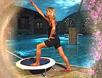 Its important to stretch the main muscles - essential stretches when using mini trampolines