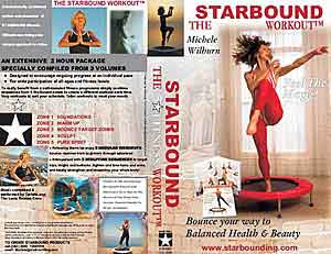 Starbound Workout  DVD  and mini trampoline rebounding exercise  videos for mini trampoline rebounder exercises
