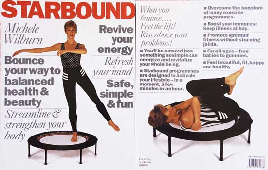 Best selling Starbound mini trampoline book of rebounding exercise holisitc fitness lifestyle plans