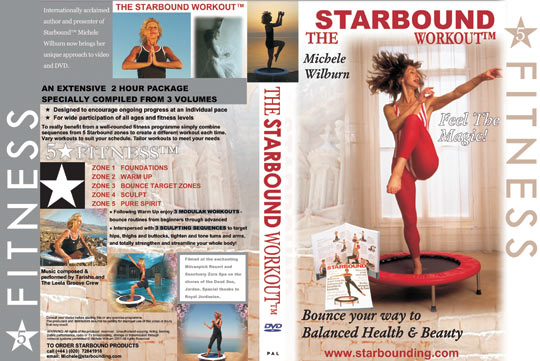The Starbound Workout videos for minitrampoline rebounding exercise workouts in rebounding exercise workout DVD two hour compilation Five Star Fitness