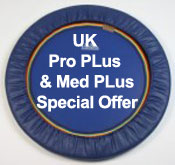 Special Offer for Starbounds quality trimilin Pro Plus UK rebounder and med PLus folding leg rebounders