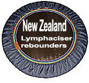 New Zealand RH48 lymphaciser rebounders, manufactured to precision for over 35 years, provide superb quality for youre rebounder workouts