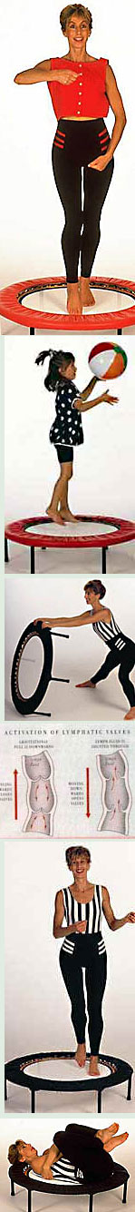 Use Starbound exercise workouts on DVD for a well rounded mini trampoline rebounder exercise workout progamme
