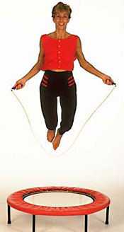 Skipping workouts on your rebounder in Starbounds min trampoline book