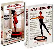 The Starbound Workout two hour mini tampoline rebounder exercise DVD and the Starbound book of mini trampoline rebounder exercises with the best quality Needak rebounder in the USA