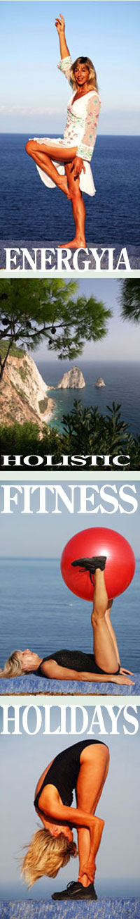 Energyia holistic fitness exercise holidays with Michele Wilburn in the Greek islands and the South Pacific