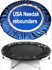 Quality USA Needak rebounders are now all available in blue or black, in either non fold or half fold.