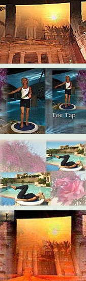 rebounder exercise DVD workouts in the Starbound DVD are filmed at the glorious Movenpick resort and Spa in Jordan