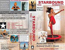 Starbound Workout rebounding exercise DVD workouts for mini trampoline exercises are filmed on the Dead Sea in Jordan to bring a holistic Spirit to rebounding workouts at home, accompanied by programs in the Starbound rebounder exericse book