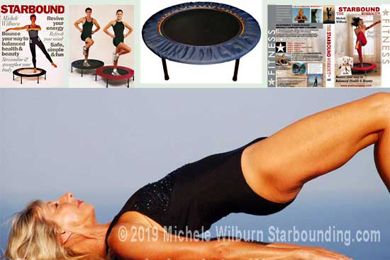 My mini trampoline workouts are designed with five Starbound Zones to encourage complete health and fitness