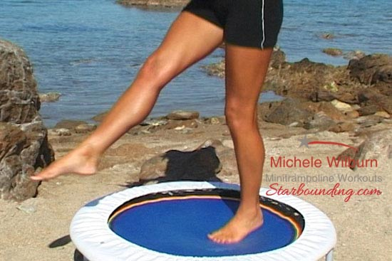Use quality mini trampolines with Starbound workout DVDs and videos to eliminate stress impact on joint and load energy into your body
