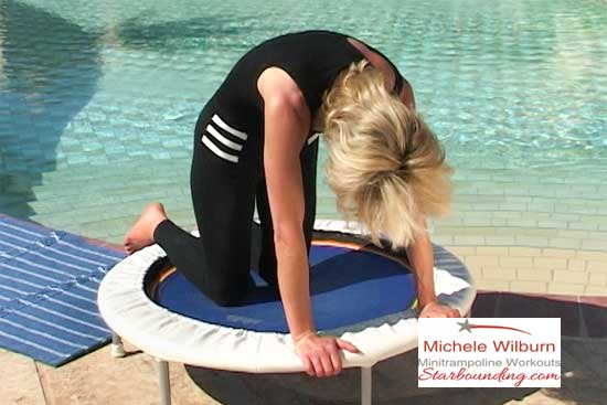 You work on and around your mini trampoline in a variety of workouts to shape upand tone your whole body mind and spirit.