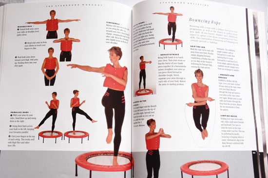 The Starbound international best seller book contains a variety of mini trampoline workouts to help you learn sequential bounce exercise skills