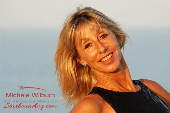 Michele Wilburn internationally acclaimed author and producer of Starbound mini trampoline workouts