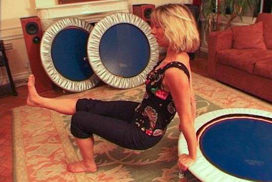 More than just a bounce you use your mini trampoline in a variety of ways for perfect home exercise