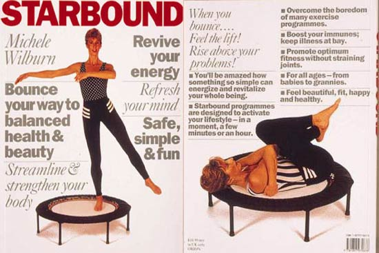 Starbound Mini trampoline book or rebounding workouts and holistic lifestyle plans using mini trampolines to support transformation